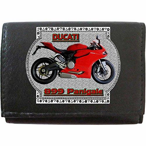 Ducati 899 Panigale Klassek Leder Schlüsseletui Schlüsselleiste mit Haken Motorrad Zubehör Bike Geldbörse