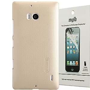 MYLB Calidad cáscara de la Funda case cover protectora de alta dura para Nokia Lumia 930 smartphone +1 paquete del protector de pantalla (Champagne oro)