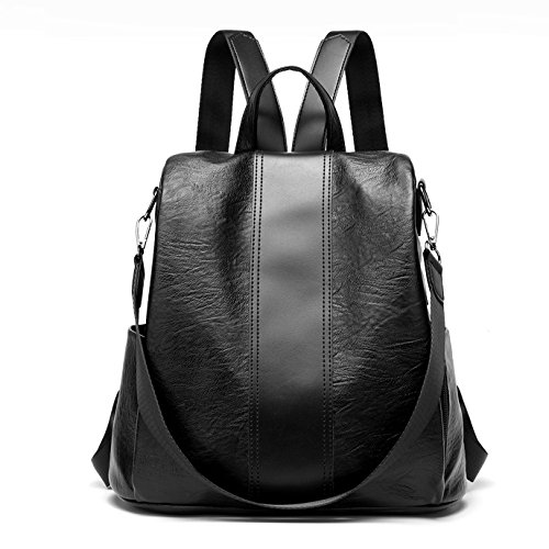 Hgdr Bag Women Backpack Daypacks Travel, noir-31 * 15 * 30cm Noir