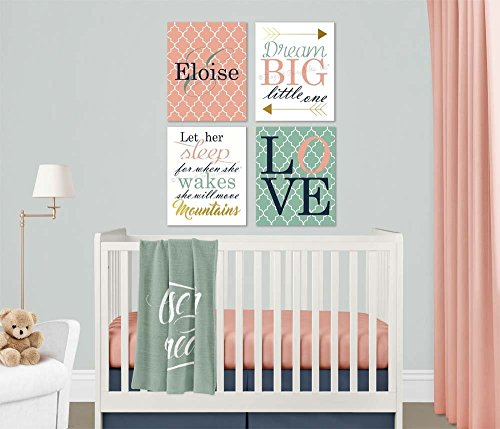 Dream Big She Will Move Mountains Baby Girl Nursery