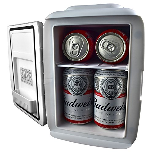 Cooluli Mini Fridge Electric Cooler and Warmer (4 Liter/6 Can): AC/DC Portable Thermoelectric System w/Exclusive On the Go USB Power Bank Option (Home Ac Usb)