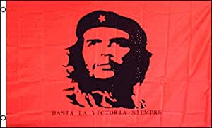 Bandera de Che Guevara (rojo) 3x 5ft poli