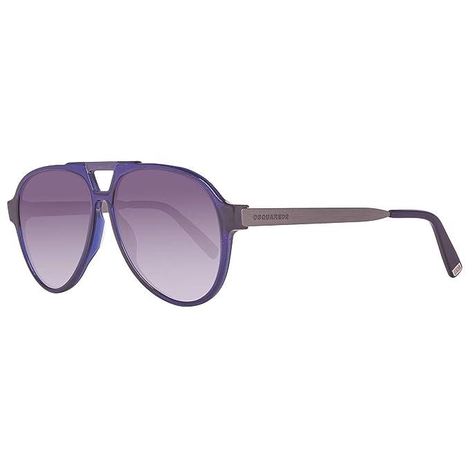 DSQUARED2 Sonnenbrille DQ0204 90W 58 Gafas de sol, Azul (Blau), 58.0 para Hombre