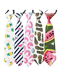 Happy Cherry Neckties for Kids Formal Wedding Graduation School Uniforms Ties Set