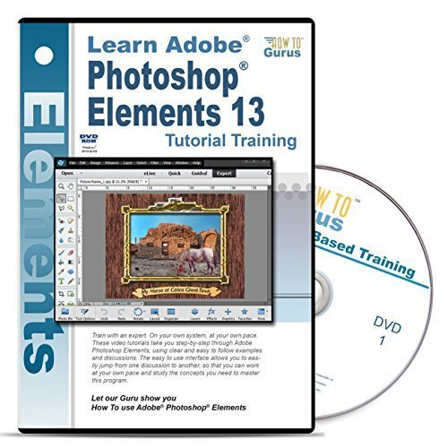 Adobe Photoshop Elements 13 Tutorial Training on 2 DVDs Over 15 hours of Training 223 video lessons by How To Gurus