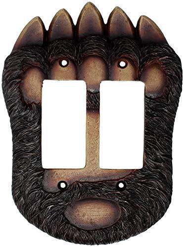 Bear Paw Double Rocker Switch Plate