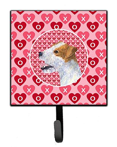 Jack Russell Terrier Tile - Caroline's Treasures SS4504SH4 Jack Russell Terrier Leash or Key Holder, Small, Multicolor