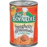 Chef Boyardee Spaghetti and Meatballs, 14.5-Ounce (Pack of 24), 10.04 Kilogram