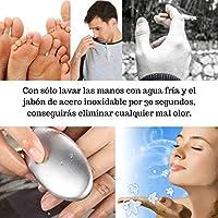 Jabón de Acero Inoxidable ELIMINA OLORES de manos, pies y axilas ...