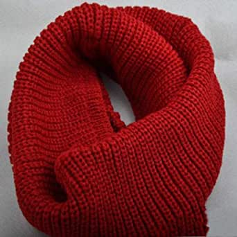 Red Acrylic Infinity Scarf For Women