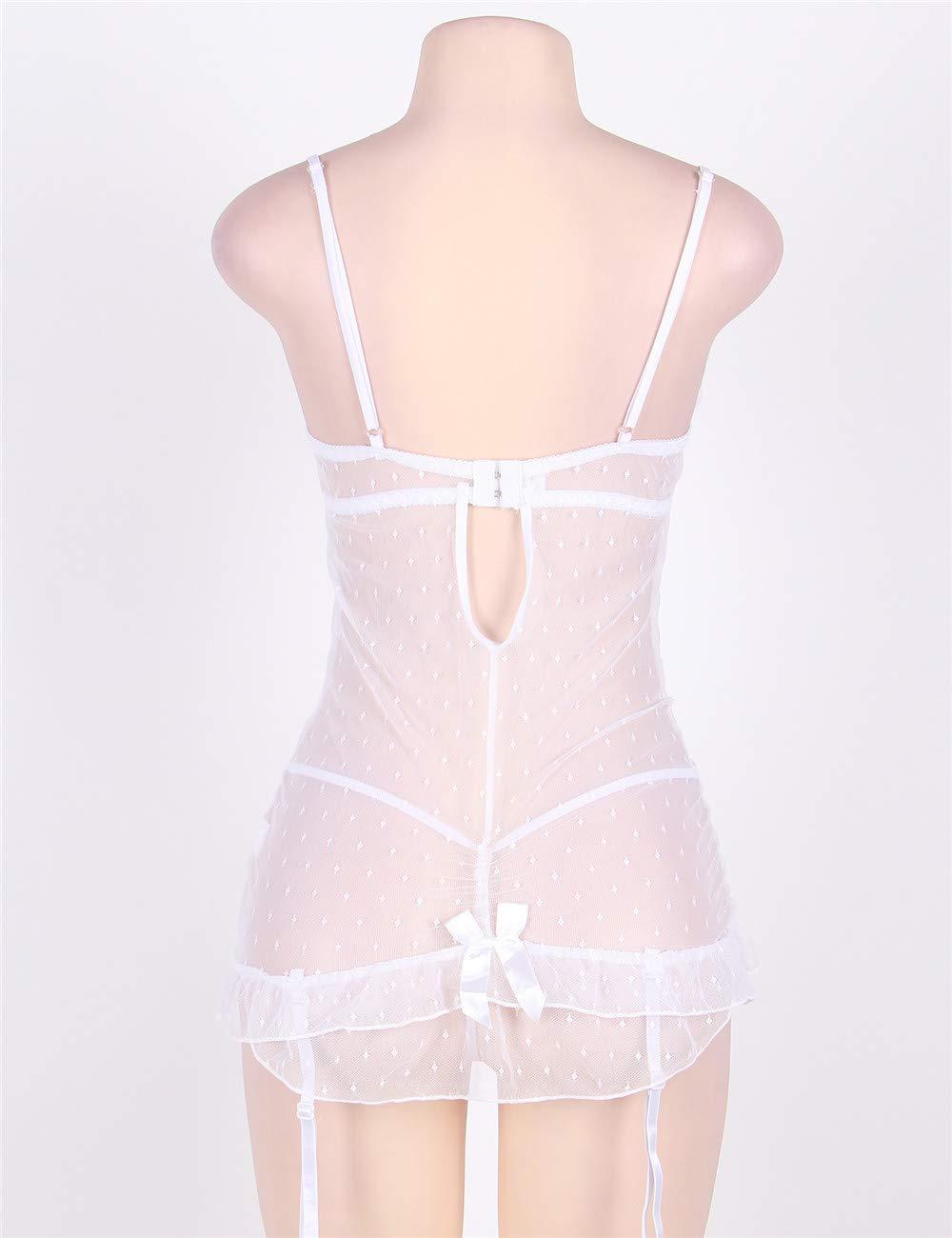 Lencería Sexy Pijamas para Mujer Lencería de Encaje Pijamas Sexy Seductora Lencería erótica Conjunto de Tanga - Múltiples Opciones de tamaño (Tamaño : 5XL) 1d90dd
