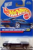 Mattel Hot Wheels 1998 1:64 Scale Black 1965 Ford Mustang Convertible Die Cast Car Collector #455