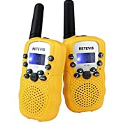 Amazon Lightning Deal 100% claimed: Retevis Kids Walkie Talkie RT-388 UHF 462.5625-467.7250MHz 22CH LCD Display Flashlight VOX Toy 2 Way Radio For Children (2 Pack) (Yellow)