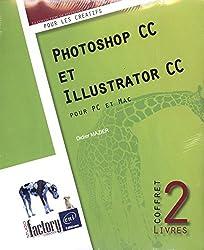 Photoshop CC et Illustrator CC - Coffret de 2 livres