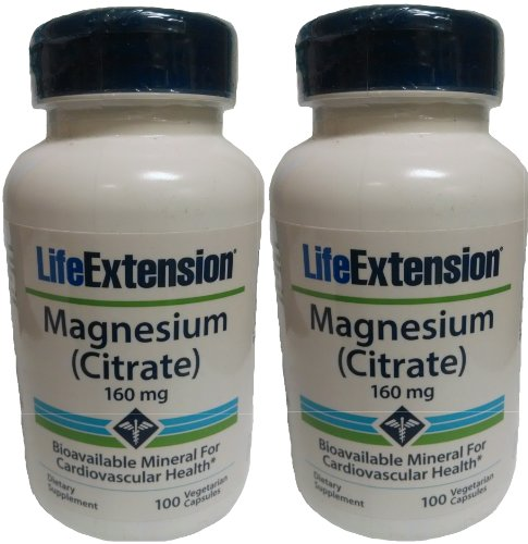 (Life Extension Magnesium Citrate, 160 Mg, 100 Capsules (2 Pack))