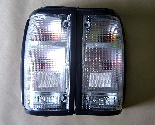 MotorStorex - Tail light LH & RH Rear Combination Light for Mazda B Series B2000 B2200 B2600 Magnum Pickup Truck Taillight - Clear -