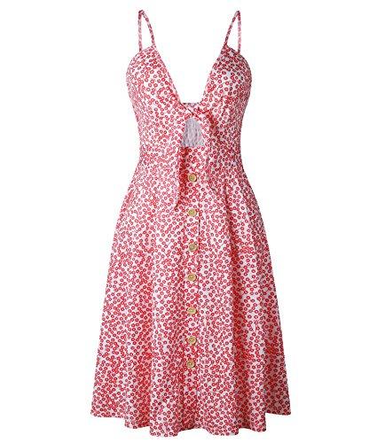Backless Strap Princess Dress Swing Deep Off Spaghetti Womens V Sexy Orange Summer Dress Buttons Shoulder ZTwxqT1A