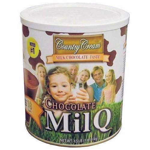 Country Cream Chocolate MilQ Drink Case of 6 Country Cream chocolate MilQ drink in a #10 can.