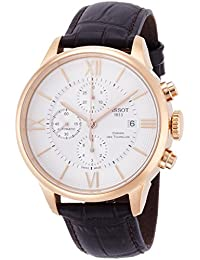 Tissot T-Classic Chemin Des Tourelles Chronograph Automatic Silver Dial Brown Leather Mens Watch T0994273603800