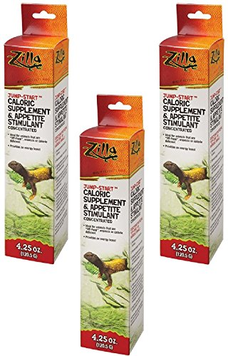 (3 Pack) Zilla Reptile Health Supplies Jump-Start Appetite Stimulant, 4.25 Ounce each by Zilla