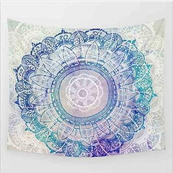 Tonpot Mandala Tapisserie D/écoration murale ronde Plage Couvre-lit Boh/ême D/écoration murale Tapis de yoga pour banc Chambre /à coucher salle de s/éjour 150 130cm A 1