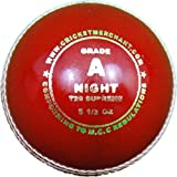 cm Night T20 Supreme - Grade A Cricket Ball, Red
