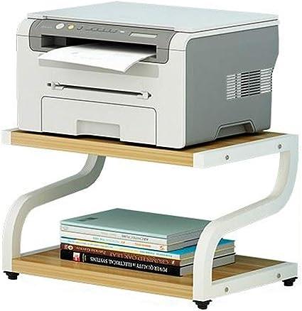 Weq Estantería Estantería Impresora Elegante Suelo de Madera de ...