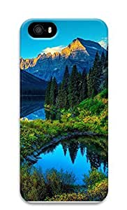 iPhone 5 5S Case Hdr Mountains Lake 3D Custom iPhone 5 5S Case Cover
