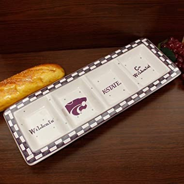 NCAA Kansas State University Game Day Relish Tray, One Size, Multicolor