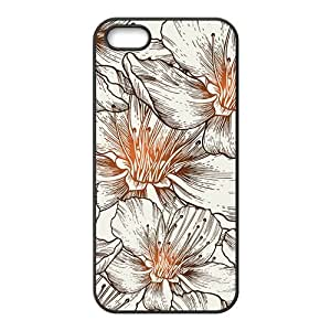 The Beautiful Flowers Hight Quality Plastic Case for Iphone 5s