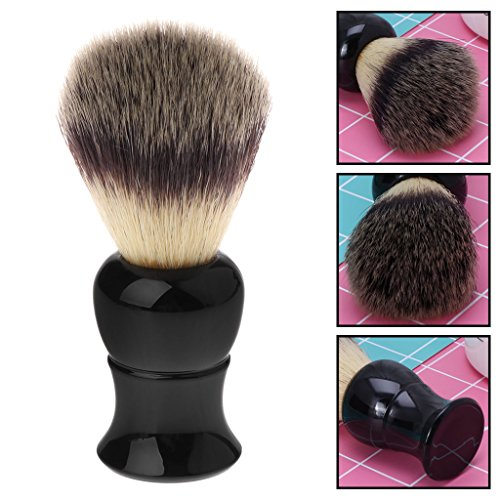 EA-STONE Luxury Badger Brush, Shaving Brush Plastic Handle for Beard Face Facial Cleaner Cleaning Tools Handle Shaving Brush for Men