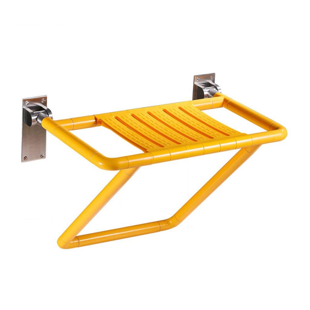 バスルームの折り畳み式の壁の椅子のバスシート高齢者の滑り止めの壁の椅子のバススツール (色 : イエロー いえろ゜) B07DFDNH3C イエロー いえろ゜ イエロー いえろ゜