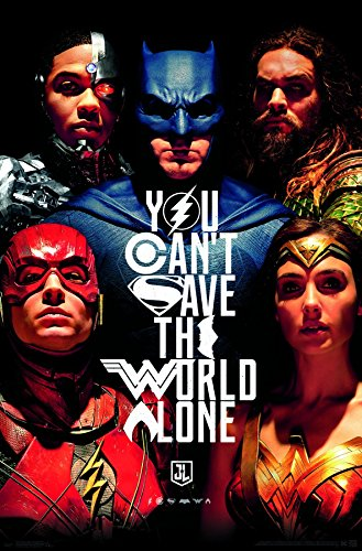 Trends International Justice League Save The World Wall Poster, 22.375