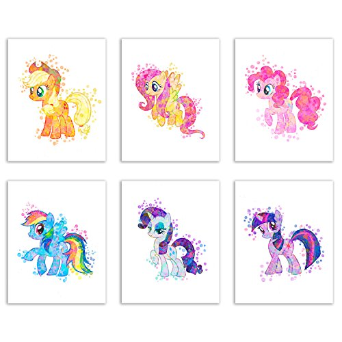 My Little Pony Wall Art Prints Decor - Set of 4 (8x10) Girls Poster Photos - Kids Bedroom (My Little Pony Bedroom)