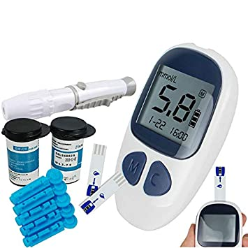 Free Blood Glucose Meter >> Electronic Blood Glucose Testing Kit Digital Handheld Blood Glucose Monitor Includes 50 Free Test Strips