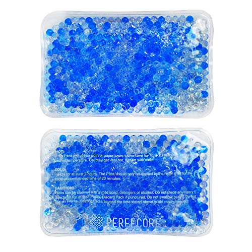 Reusable Ice Packs for Injuries - Freeze for a Cold Gel Pack, Microwavable for a Warm or Hot Compress - Therapy Pain Relief for Wisdom Teeth, Ankle, Knee, Face, Kids - 2 Flexible Icepacks for Recovery
