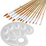 12pcs Acrylic Oil Paint Brushes- a Paint Palette