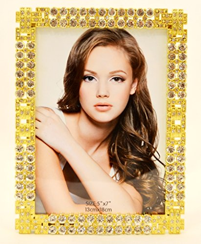 - Ciel Collectables 2031695B Aleksandra Gold Plated Picture Frame with Hand Set, 5