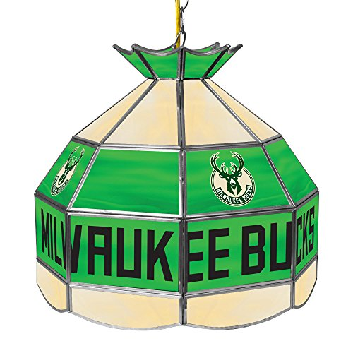 NBA Milwaukee Bucks Tiffany Gameroom Lamp, 16'' by Trademark Gameroom