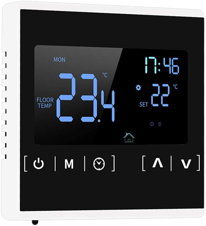 Smart Wifi Thermostat Programmable Thermostat, Kecheer Intelligent LCD Touchscreen Thermostat for Home Programmable Electric Floor Heating System Water Heating AC 85-250V Temperature Controller