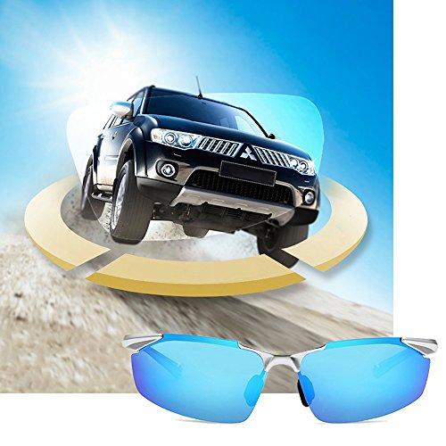Hommes De UV Protection Les pour CarréS TESITE PolariséS 100 Bleu Lunettes Contre à Verres Soleil 5O8Ox7