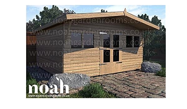 Noah - Cobertizo de jardín de Madera, 8 x 8 cm, Resistente, para Taller, Garaje: Amazon.es: Jardín