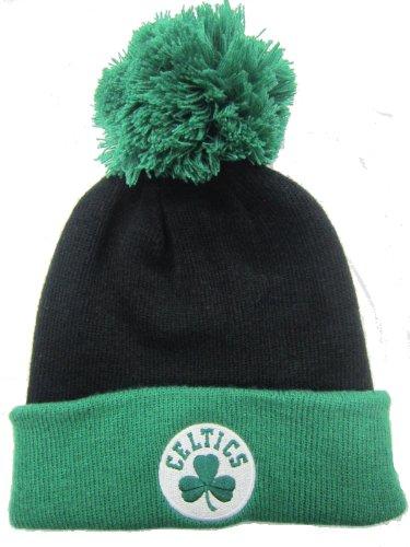Boston Celtics Black / Green Cuffed Pom Knit Cap / Beanie ()