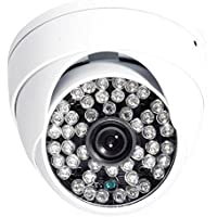 GERI Security IR CCTV Color Day Night vision Dome Camera 48Leds with Audio Mic