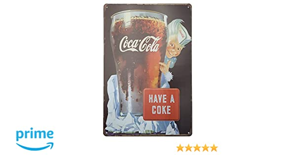MARQUISE & LOREAN Coca Cola Placas Decorativas Pared Cocacola Chapas Vintage Metálicas Cocacola Elígeme (20 x 30 cm, with Ice)