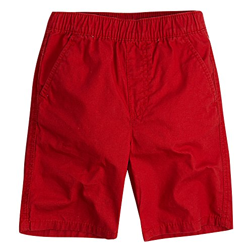 Levi's Boys' Little Pull On Shorts, Pompeian Red, 7]()