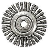 Stringer-Bead Twist-Knot Wheel, 4 1/2'' dia, 13/16'' Trim, .20 Wire, 5/8'' Arbor