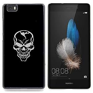 GIFT CHOICE / Teléfono Estuche protector Duro Cáscara Funda Cubierta Caso / Hard Case for Huawei Ascend P8 Lite (Not for Normal P8) // Evil Gray Grin Skill //