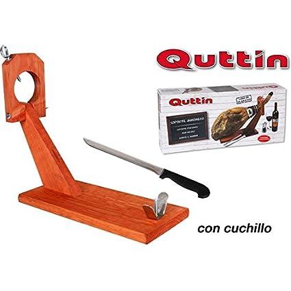 Soporte jamonero eco quttin + cuchillo: Amazon.es: Salud y ...