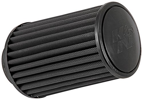 K&N RU-3105HBK Universal Clamp-On Air Filter: Round Tapered; 3.5 in (89 mm) Flange ID; 9.5 in (241 mm) Height; 6 in (152 mm) Base; 5.25 in (133 mm) Top